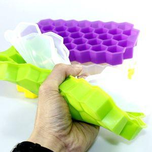37 Cube Honeycomb Ice Ferramenta Silicone Moldes para Kitchen Supplies Verão silicone bandeja de gelo DIY Ice Cube do Vinho Whiskey