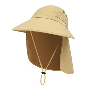 Sun Hat Wide Brim UPF Sunshade Protection Packable Quick Drying Outdoor Fishing Ponytail Hats For Hiking Hunting Camping