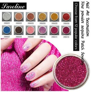 Glitters Nails Fine Powder Laser Sequins 3D Glitter Pigment Colors DIY Nail Art Design Decoration Gel Varnish Dust for Manicure