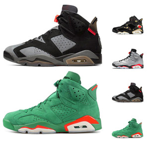 6s Yeni 6 spor Sneakers erkek eğitmenler boyutu 7-13 Breathe Erkekler Basketbol ayakkabılar 2020 siyah Kızılötesi CNY Gatorade yeşil Tinker Geldi
