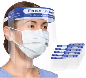 Прозрачная защитная маска для лица всесторонняя защитная крышка с прозрачным широким козырьком плюющаяся противотуманная линза с регулируемой резинкой