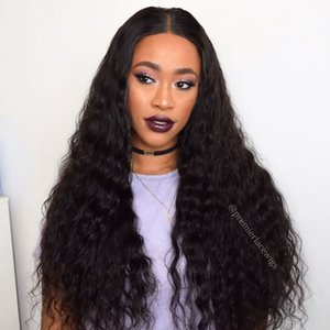 Glueless Full Lace Wigs Perimeter Pre-plucekd Natural Hairline With Baby Hair Brazilian Remy Hairs Curly Wigs Natural Hairline