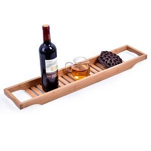 Multifonctionnel bambou pour la salle de bain Articles de rangement Organisation Plateau de fruits rack support en rack Mode Salon Affichage vin