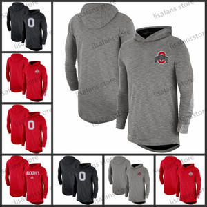 Ohio State Buckeyes Gris Noir Noir Rouge 2019 Sidicule Longue Manches Performances Top T-shirt Imprimé Color College College T-shirts Taille S-4XL