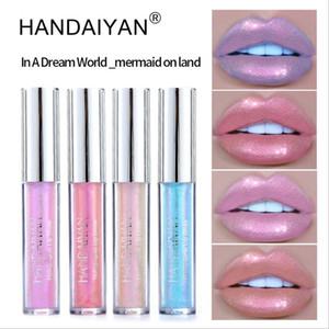 Matte Mermaid Glitter Liquid Lipstick Set Long Lasting Shiny Pigmented Lip Gloss Shimmer rose Lip Tint Waterproof