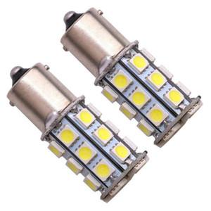 2 pezzi P21W BA15s 1156 5050 SMD 27 Led auto trasformare la luce freno automatico Riserva di segnale Lampade Lampadina 12V DC S25 P21W 1156 lampade a LED