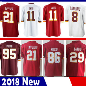 Limited Washington 11 Alex Smith 29 Derrius Guice piel roja Jersey 21 Sean Taylor 72 Eric Fisher 86 Reed fútbol jerseys