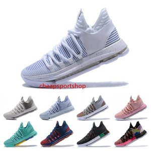 New Arrival KD 10 Kevin Durant Men Basketball Shoes Oreo BHM White black Numbers Anniversary Stucco Igloo Multi Color 10 X Sports Sneaker