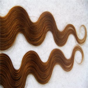 Medium Brown Color Malaysian Hair Remy Human Hair Extensions 2g stand 40pcs pack Tape In Human Hair Skin Weft