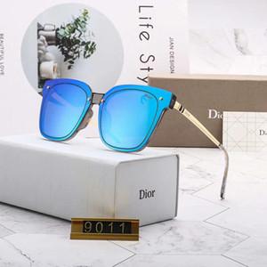 Diseñador de moda para mujer Gafas de sol Gafas de sol de lujo Gafas Adumbral UV400 Modelo D9011 5 colores Opcionales Nuevo Caliente con caja
