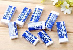 White Pencil Eraser- Pack of 30 Plastic Erasers Size 5.3 Premium Hi-Quality Polymer Eraser Ideal Erasers for Kids School Art office Drafting