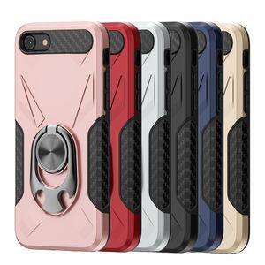 LG K40 Stylo 5 TPU + Metal Mobil Case Kapak D1 iPhone SE 2020 Darbeye Amiral Yüzük Telefon Kılıfı için Coolpad mirası için