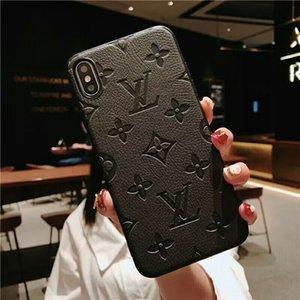 Роскошные дизайнерские телефоны Чехлы для Iphone 11 Pro Max 12 XS XR X 7 8 плюс моды Кожа PU Отпечаток падение patterncurve крышка доставки