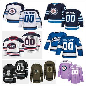 Custom Winnipeg Jets # 44 Josh Morrissey 13 Teemu Selanne 85 Mathieu Perreault 15 Matt Hendricks Men Women Kids Youth Hockey Jerseys