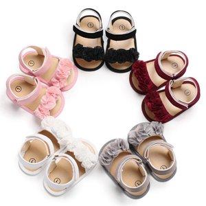 Baby Girl Sandals Chaussures bébé Coton d'été Mignonne fille Sandales Chaussures nouveau-né Semelle souple Plage