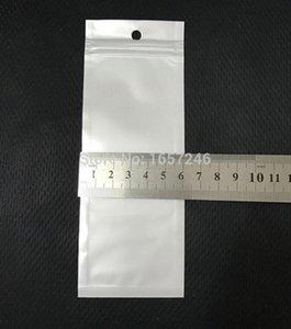 6 * 16 cm lungo trasparente bianco richiudibile Valvola cerniera di plastica Imballaggio Al Dettaglio Borse A Chiusura lampo Zip blocco sacchetto di immagazzinaggio Pacchetto W Hang foro