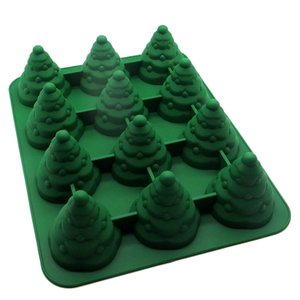 3D Yılbaşı Ağacı Fondan Kek Kalıpları Noel Silikon Kek Ekmek Dekorasyon Sugarcraft Silikon Sabun Kalıp Kalıp DIY Aracı Şeklinde