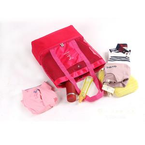Multifunktions-Lunch Bag Insulated Wiederverwendbare Double Layer Lunch Tote-Organisator Cooler Aufbewahrungstasche Picknick im Freien Mesh-Lunch Handtasche EEA1368-6