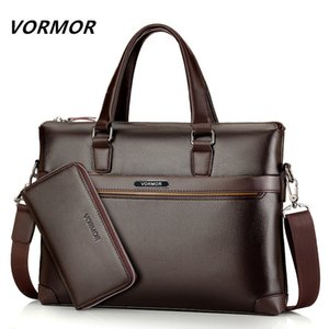 Famous Fashion Casual Leather Bag Men's 2 Set Shoulder Bag Messenger Bags Business Handbag Laptop Male Briefcase