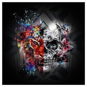 5D Diy Diamante Pintura punto de Cruz Cráneo, regalo de Halloween, Esqueleto de Diamante Bordado Completo Redondo Diamante Mosaico Pintura