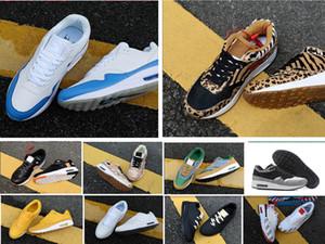 2019 Yeni 1 87 DLX Hava ATMOS Hayvan Paketi 1s 87s Leopar gra Erkekler Kadınlar Klasik Atletik Zapatos Eğitmenler 36-45 Ayakkabı çalıştıran
