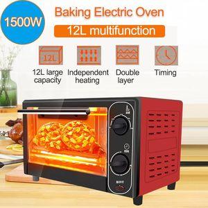 1500W 12L del hogar Mini Horno eléctrico panificadora automática inteligente de sincronización para hornear pan casero cocina Tostadora