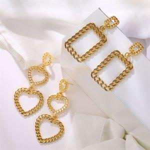 KISSWIFE Мода полые Геометрическая Большой Негабаритные серьги цвета золота серьги падения для женщин 2020 Jewelry партия подарков