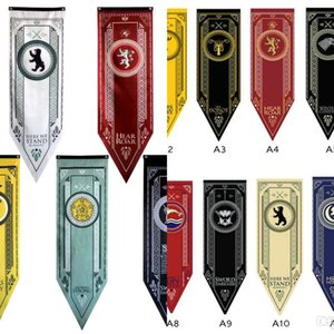 14 Style 48*150cm Game Of Thrones Flag House Stark Tournament Ployester Banner Flags Outdoor Garden Home Decor Triangular Flag 1pcs Free