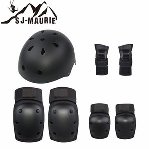 SJ-MAURIE 7pcs/Set Protective Gear Set Knee Pads Elbow Pads Wrist Protector Protection for Scooter Cycling Roller Skating Helmet