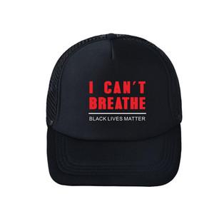 Eu não posso respirar Baseball Cap letra impressa Chapéus Outdoor Verão snapbacks I Cant respiração Caps os chapéus do partido Ball Caps GGA3454