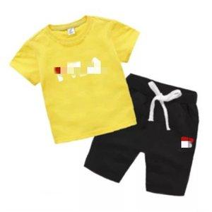G2&#13 Kids' men's   girls' 2020 summer new T-shirt and shorts set cartoon printing sports two piece set