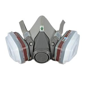 6800 Industrial Mezza Maschera Vernice Gas maschera respiratoria Protezione sicurezza sul lavoro antipolvere respiratore con filtro Grande