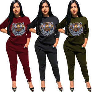 2 Piece Set Designer Tracksuit Fashion Women Hoodie Top with Pants Solid Black Green Casual Tracksuits