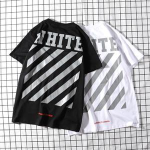 progettista di lusso moda T-shirt a righe marchio americano classico freccia di stampa bianco coppia di tendenza della via maglietta di breve estate T