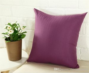 45 * 45CM Home Sofa Throw Pillowcase solid Color Pillow Cover Cushion Cover Decor Pillow Case Blank christmas Decor Gift C168