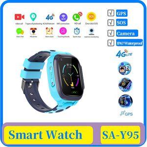 niños 10x 4G reloj inteligente IP67 warerproof SmartWatch wifi GPS de seguimiento de la cámara del reloj del bebé videollamada táctil reloj SmartWatch ChildrenTelephone