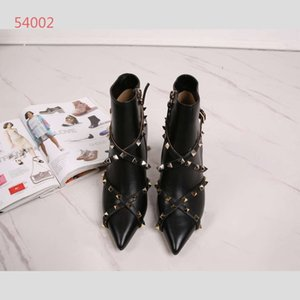 Hot Sale-comfortable breathable pedal of European Station in early spring, with leather square buckles and women's shoes boots, size 34-40