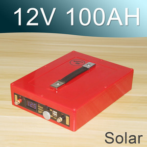 12V 80AH Solar Lityum İyon Pil 12V Şarj Edilebilir Lipo
