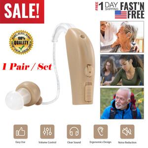 Orecchio 2PC Digital Hearing Aid ricaricabile con cancellazione del rumore del suono amplificatore di voce
