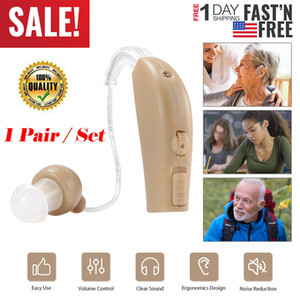 2PC Digital-Ohr-Hörgerät Wiederaufladbare Noise Cancelling Ton-Sprachverstärker