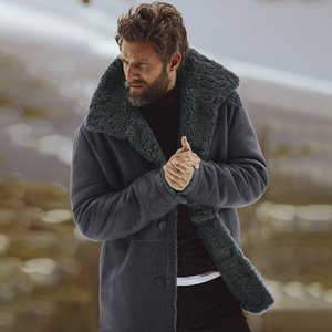 Mens Designer Winter Coats Casual Thick Warm Long Sleeved Fur Neck Coats Mens Fashion Winter Outerwear