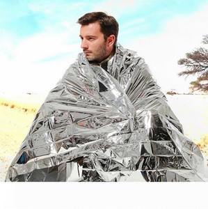 New Outdoor Water Proof Emergency Survival Rescue Blanket Foil Thermal Space First Aid Sliver Rescue Curtain Military Blanket NY070