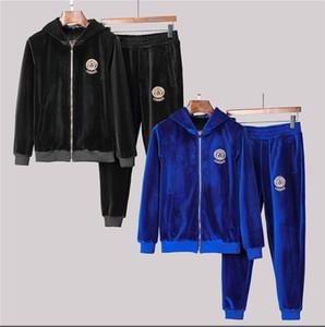 Мужские костюмы с длинным рукавом спортивный костюм куртки установить мода работает спортивные костюмы мужчины спортивный костюм Письмо печати тонкий толстовки Medusa спортивная одежда G32