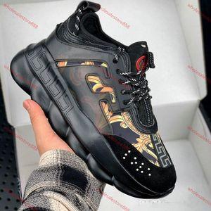 Versace casual shoes casuales de la moda de los hombres de marca, zapatillas de deporte bajas en la parte superior de alta calidad, un conjunto completo de calzado original,