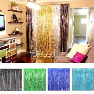 Colorful Laser Rain Curtains Ribbons for Wedding Baby Shower Birthaday Christmas Backdrop Wall Hanging Decorations