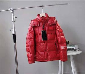 Erkek Parkas jackes Homme Yeni Kapşonlu Parkas Aşağı WINDBREAKER Markalar Homme Sıcak ceketler Çift Lüks Fermuar Kalın ceketler Coat 01