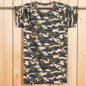 FAISIENS Camouflage-Druck-T-Shirt Homme Large Size 7XL 8XL O-Ausschnitt Kurzarm-beiläufige lose Breathable Männer-T-Shirt