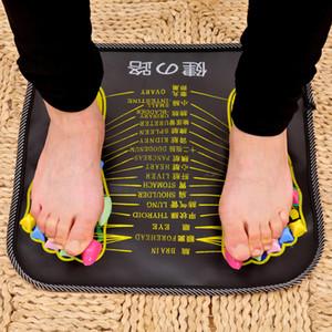 1 шт. иглоукалывание булыжник ноги рефлексология массаж Pad ходить камень квадратная нога массажер подушка для отдыха тела боль здравоохранения C18122801