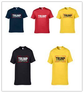 Унисекс Donald Trump 2020 T-Shirt Мужчины Женщины шею с коротким рукавом Футболка Make America Great Again Letters печать Tops Tee S-XXXL D22502