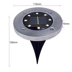 Wasserdicht IP65 4 8 12 16LED Solar-U-Leuchten Edelstahl Solar-Buried-Fußboden-Licht im Freien Garten-Weg-Bodenleuchten